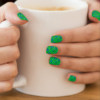 Falln Green Blue Scales Minx Nail Art