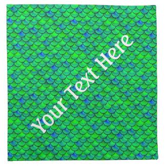 Falln Green Blue Scales Napkin