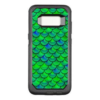 Falln Green Blue Scales OtterBox Commuter Samsung Galaxy S8 Case