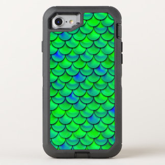Falln Green Blue Scales OtterBox Defender iPhone 8/7 Case
