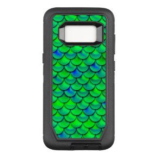 Falln Green Blue Scales OtterBox Defender Samsung Galaxy S8 Case