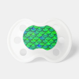 Falln Green Blue Scales Pacifiers
