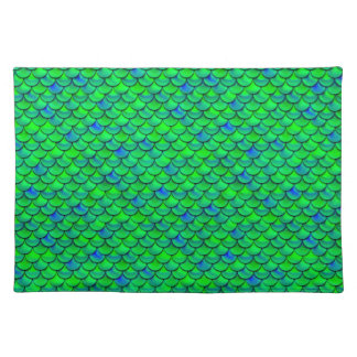 Falln Green Blue Scales Placemat