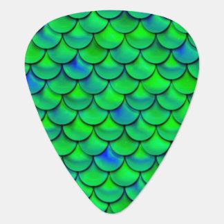 Falln Green Blue Scales Plectrum