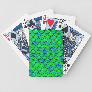 Falln Green Blue Scales Poker Deck
