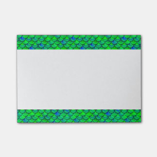 Falln Green Blue Scales Post-it Notes