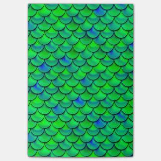 Falln Green Blue Scales Post-it Notes