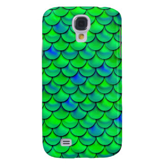 Falln Green Blue Scales Samsung Galaxy S4 Cover