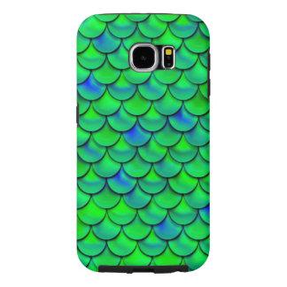 Falln Green Blue Scales Samsung Galaxy S6 Cases