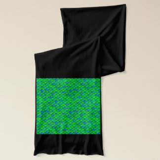 Falln Green Blue Scales Scarf