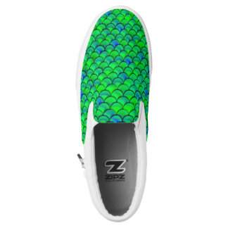 Falln Green Blue Scales Slip-On Shoes