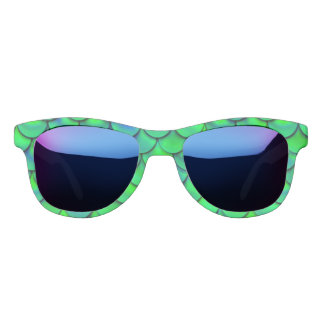 Falln Green Blue Scales Sunglasses