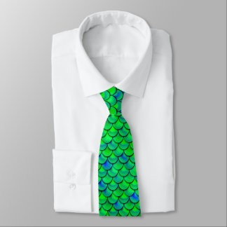 Falln Green Blue Scales Tie