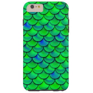 Falln Green Blue Scales Tough iPhone 6 Plus Case