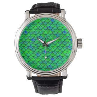 Falln Green Blue Scales Watch
