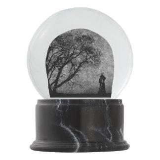 Falln Grim Reaper Original Art Boundaries Between Snow Globe