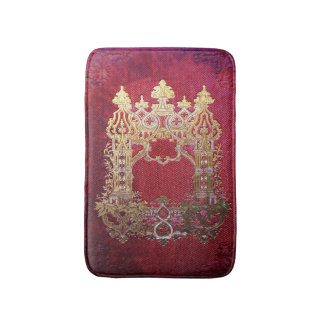 Falln Ink Stained Crimson Bath Mat