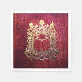 Falln Ink Stained Crimson Disposable Serviette