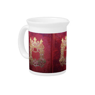 Falln Ink Stained Crimson Pitcher