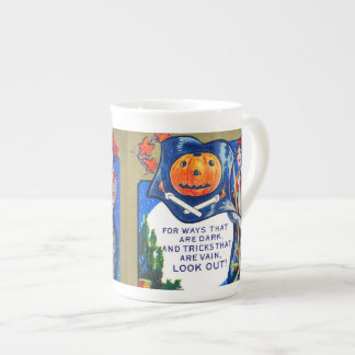 Falln Look Out Halloween Time Tea Cup