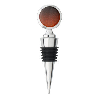 Falln Orange & Black Glitter Gradient Wine Stopper