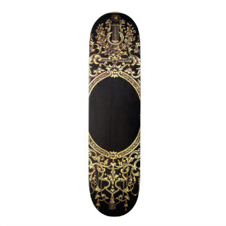 Falln Ornate Gold Frame (Perfect for a Monogram!) 21.6 Cm Old School Skateboard Deck