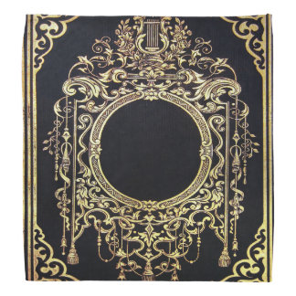 Falln Ornate Gold Frame (Perfect for a Monogram!) Bandanna