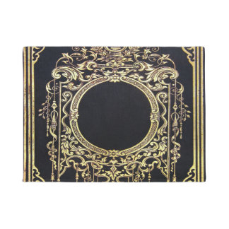 Falln Ornate Gold Frame (Perfect for a Monogram!) Doormat