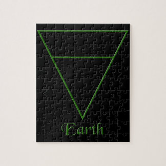 Falln Pagan Earth Element Symbol Jigsaw Puzzle