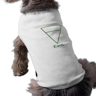 Falln Pagan Earth Element Symbol Sleeveless Dog Shirt
