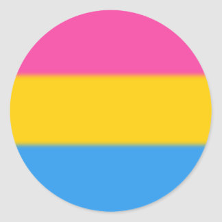 Falln Pansexual Pride Flag Classic Round Sticker