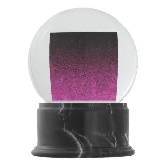 Falln Pink & Black Glitter Gradient Snow Globes