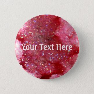 Falln Pink Faerie Crystals 6 Cm Round Badge