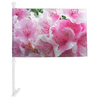 Falln Pink Floral Blossoms Car Flag