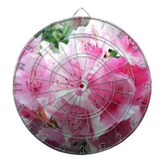 Falln Pink Floral Blossoms Dartboard