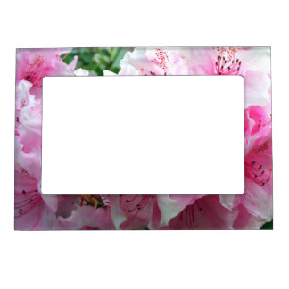 Falln Pink Floral Blossoms Magnetic Photo Frame