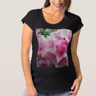 Falln Pink Floral Blossoms Maternity T-Shirt