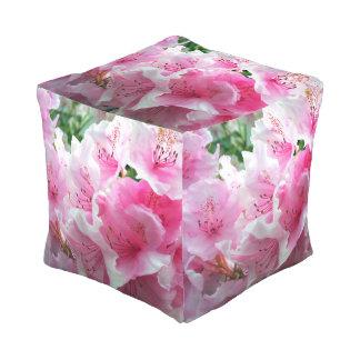 Falln Pink Floral Blossoms Pouf