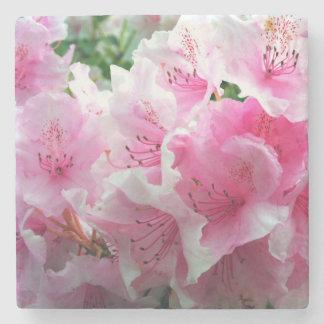 Falln Pink Floral Blossoms Stone Coaster