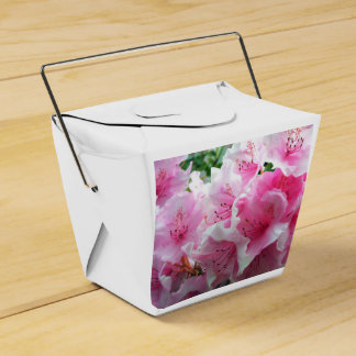 Falln Pink Floral Blossoms Wedding Favour Boxes