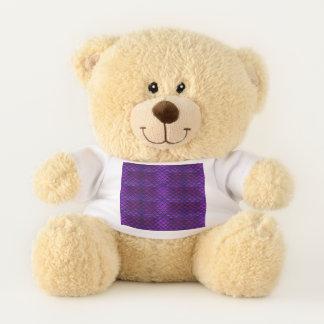 Falln Purple And Blue Mermaid Scales Teddy Bear