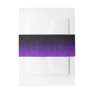 Falln Purple & Black Glitter Gradient Invitation Belly Band