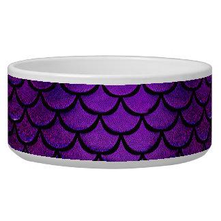 Falln Purple & Blue Mermaid Scales Dog Bowls