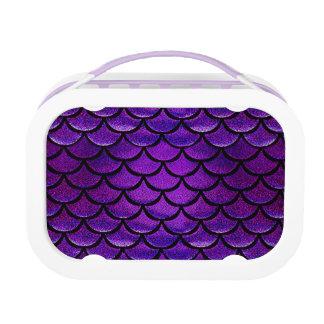 Falln Purple & Blue Mermaid Scales Lunch Box