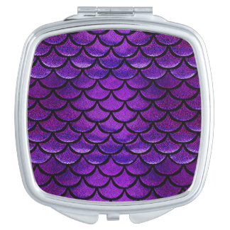 Falln Purple & Blue Mermaid Scales Mirror For Makeup