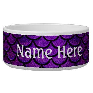 Falln Purple & Blue Mermaid Scales Pet Food Bowls