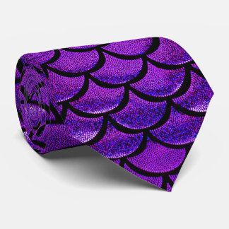 Falln Purple & Blue Mermaid Scales Tie