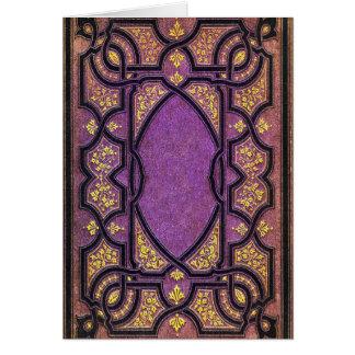 Falln Purple & Gold Vines Book Cover Card