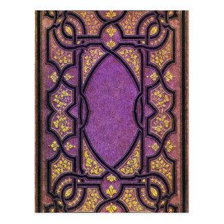 Falln Purple & Gold Vines Book Cover Postcard