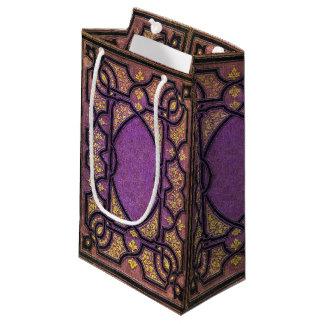 Falln Purple & Gold Vines Book Cover Small Gift Bag